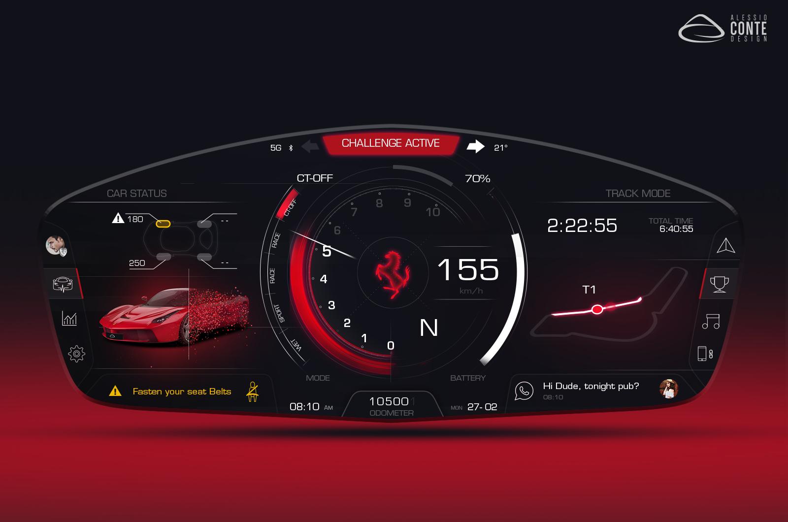 Ferrari – Personal HMI Concept