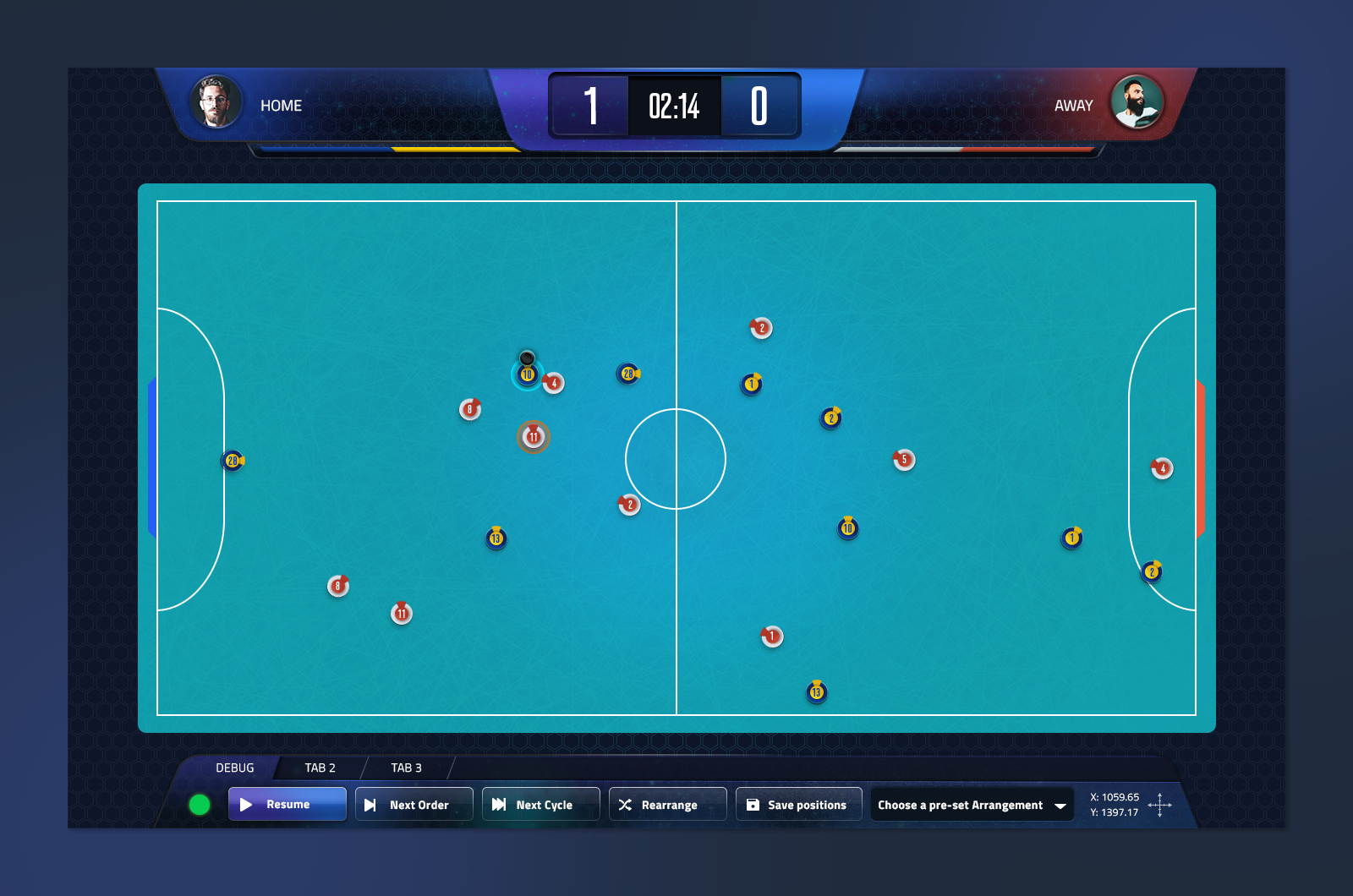 UI for a soccer Game