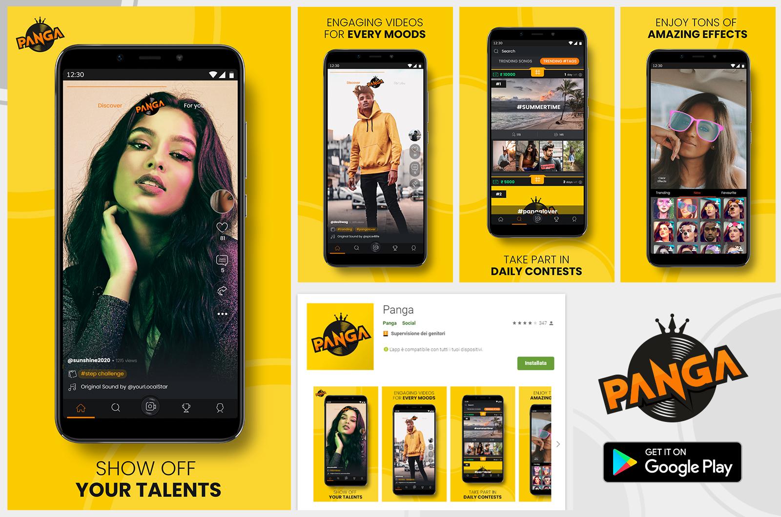 Panga App Playstore page